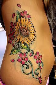 colorful sunflower tattoo design of tattoosdesign of tattoos