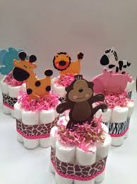 Baby Shower Centerpieces Pinterest by Best 25 Safari Diaper Cakes Ideas On Pinterest Jungle Diaper