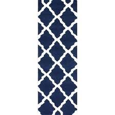 nuloom trellis navy blue 2 ft 6 in x 10 ft runner mtvs27d 26010