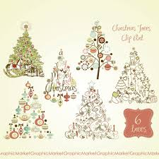 retro christmas tree clipart clipartxtras