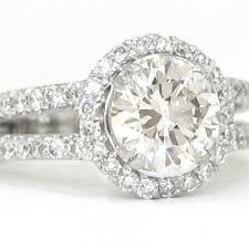 circle engagement ring diamond engagement ring deco split shank 1 77ctw