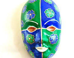 ceramic mardi gras masks ceramic mask etsy