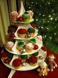 ice cream before dinner christmas tree cupcake and treat tower