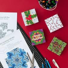 how to make a christmas gift box printable template and tutorial