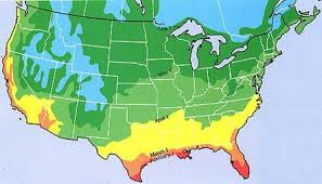 temperature map florida map showing last killing dates for the us temperature