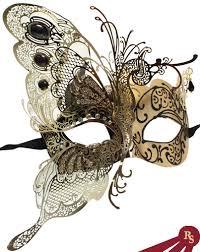 mask masquerade black and gold metal venetian mask masquerade