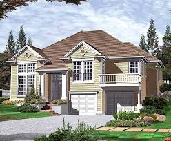 bi level house plans with attached garage plan w69249am split level garage plan e architectural design
