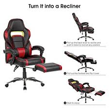 Amazon Ergonomic Office Chair Amazon Com Langria Faux Leather Racing Gaming Chair Computer