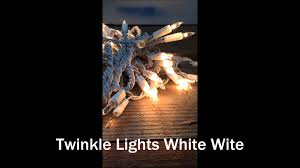 white wire random twinkle lights