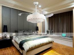 42inch modern transparent plastic blades folding ceiling fan