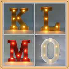 Home Decorative Lights New Arrival Home Decorative Light Up Alphabet Letter 12 5 Inch