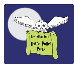 free printable owl invitation for harry potter parties