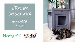 ecoflex jumbo litter loo hidden kitty litter box end table gray litter loo enclosed end table from new age pet youtube
