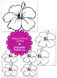 Printable Hawaiian Decorations Printable Hibiscus Flower Template Printable Treats Craft