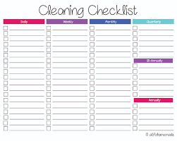 Bathroom Cleaning Checklist Template Washroom Checklist Getpaidforphotos Com