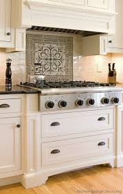 kitchen with tile backsplash best 25 kitchen tile backsplash with oak ideas on oak