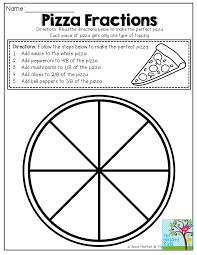 3rd Grade Fractions Worksheets Simple Fractions No Prep Packet Pizzas Math And Math Fractions