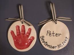 new baby handprint ornament baby ornament