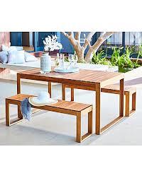 Acacia Table Malmo Acacia Table And Bench Dining Set J D Williams