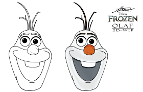 olaf coloring face coloring pages