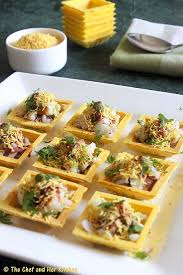 canape cups recipes canape sev puriingredients 14 16 canapes ready made 1 3 cup moong