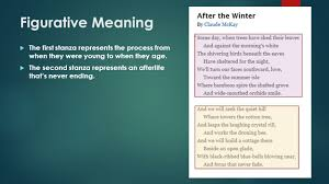 Trees And Their Meanings After The Winter By Claude Mckay Ppt Video Online Download