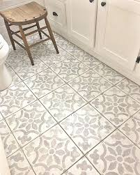Porcelain Bathroom Floor Tiles Painting Porcelain Floor Tile A Stenciled Bathroom Floor Using The