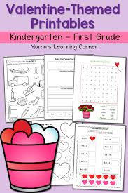valentine worksheets for kindergarten and first grade mamas