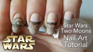 star wars two moons nail art tutorial youtube