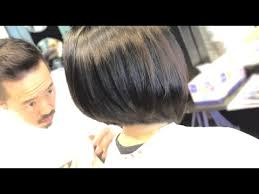 graduated bob haircut tutorial bob hair cutting videos youtube