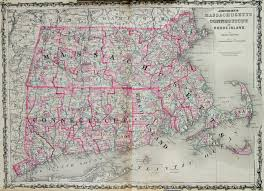 map of ma and ri map of massachusetts connecticut ri 1863