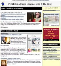 archdiocese of boston newsletter sign up