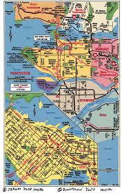 Map Of Vancouver Canada Vancouver Canada Tourism