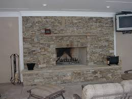 interior comfortable stacked stone backsplash style also home
