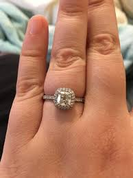 engagement rings cushion cut real engagement rings cushion diamonds weddingbee cushion cut ring