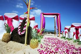 hawaiian theme wedding hawaiian themed wedding