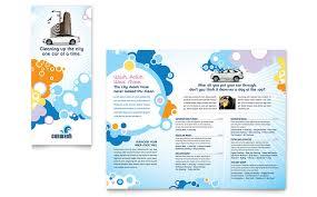 car wash tri fold brochure template word u0026 publisher