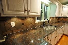 Tile Backsplash Ideas With Granite Countertops Awesome Eclectic - Granite tile backsplash ideas