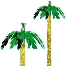 8ft palm tree hanging foil decoration