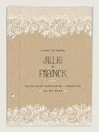 livret de messe mariage pdf couverture de livret de messe de mariage vintage dentelle kraft