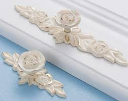 Shabby Chic Cabinet Pulls by Ivory Drawer Pulls Etsy