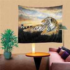 home interior tiger picture aliexpress com buy handmade 3d tiger digital printing home