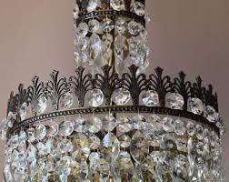 Art Nouveau Lighting Chandelier Crystal Chandelier Etsy