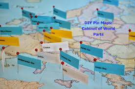 Map Cabinet What Did We Do All Day Diy Pin Maps Cabinet Of World Parts