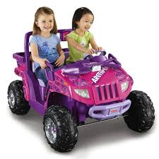 barbie cars with back seats power wheels 12v battery toy ride on arctic cat pink