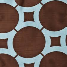 Chocolate Brown And Blue Curtains Element Circle Curtain Drapery Panels Www Bestwindowtreatments Com