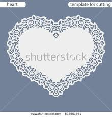 greeting card openwork border paper doily stock vector 533661664