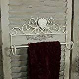 shabby chic french vintage style bathroom cream metal towel