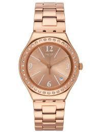 rose gold plated bracelet images Swatch allurissime rose gold plated bracelet watch ygg409g jpg