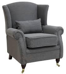 chair fireside high back armchair verity steel grey